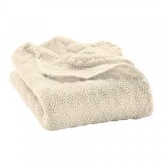 DISANA - strikket babytæppe økologisk uld - natur