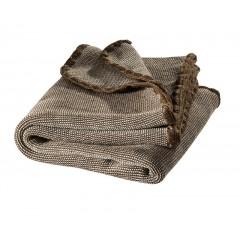 DISANA - babytæppe - økologisk uld - brun melange