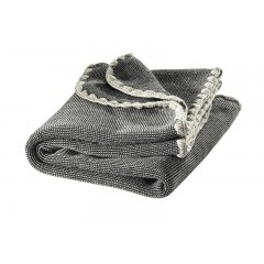 DISANA - babytæppe - økologisk uld - antrazit/grå melange