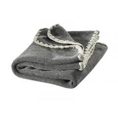 DISANA - babytæppe - økologisk uld - antrazitgrå melange