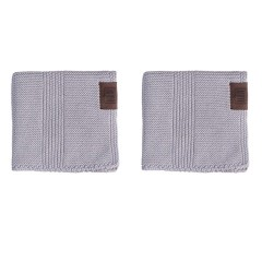 By Lohn - all round cloth - 25x25 cm. - 2 stk. - spanish grey
