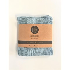 By Lohn - all round cloth - 25x25 cm. - 2 stk. - powder blue