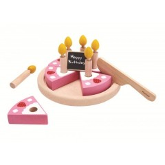 Plan Toys - fødselsdagskage i træ