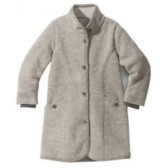 DISANA | lang uldjakke | kogt uld | grå