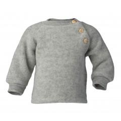 Engel - raglanbluse i økologisk uldfleece - grå
