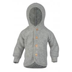 Engel - jakke med hætte i økologisk uldfleece