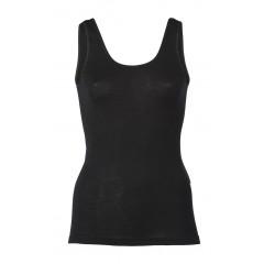 Engel - dame undertrøje - uld & silke - sort
