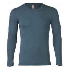 Engel - herre langtærmet t-shirt - uld & silke - atlantic