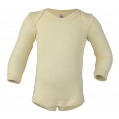 Engel -langærmet body - uld & silke - natur