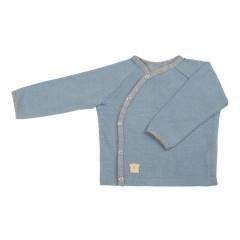 Pure Pure - jakke trøje - uld & silke - faded denim