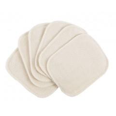 Popolini - 6 små vaskeklude - natur