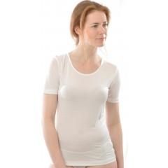 Alkena - kortærmet t-shirt - rund hals - økologisk silke - hvid