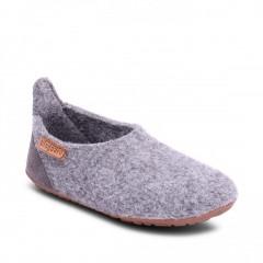 Bisgaard - hjemmesko i uld - grey