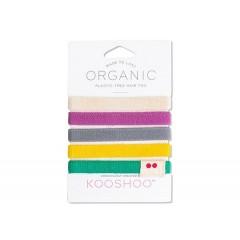 Kooshoo - økologiske hårelastikker - 5 stk. - farverig