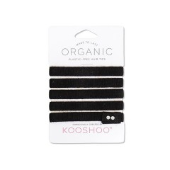 Kooshoo - økologiske hårelastikker - 5 stk. - sort
