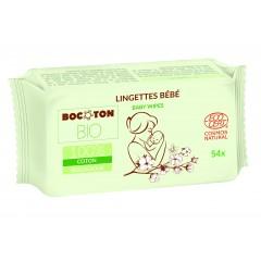 Bocoton Bio - økologiske vådservietter - 54 stk.