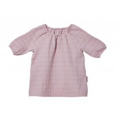 Cotonea - bluse med 3/4 ærme - større børn - muslin - støvet rosa