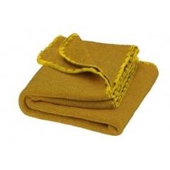 DISANA - babytæppe - økologisk uld - curry/gold melange