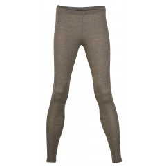 Engel - dame leggings - uld & silke - valnød