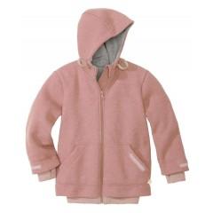 DISANA - helårsjakke i uld - rose - fåes helt op til str. 152