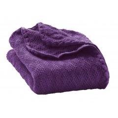 DISANA - babytæppe - økologisk uld - lilla