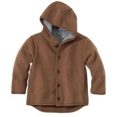 DISANA | uldjakke | kogt uld |hasselnød/brun melange