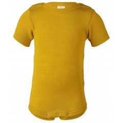 Engel - kortærmet body - uld & silke - safran
