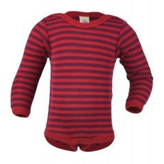 Engel - langærmet body - uld/silke - rød & lilla
