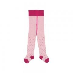Grödo | strømpebukser | bomuld-gots | rosa m. hjerter