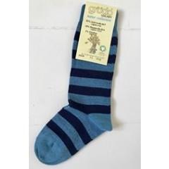 Grödo|knæ strømpe|uld & bomuld|blåstribet