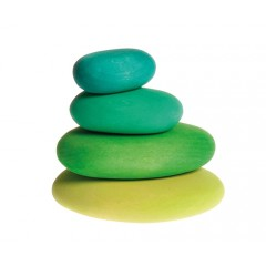 Grimms - byggesæt - moss pebbles - 4 dele