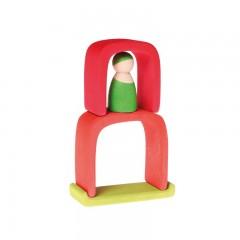Grimms - lille hus - rødt & grønt