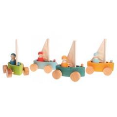 Grimms - 4 sejlbåde med passagerer