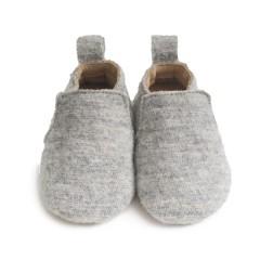 Haflinger - indesko - hafli - uld - naturgummisål - grå