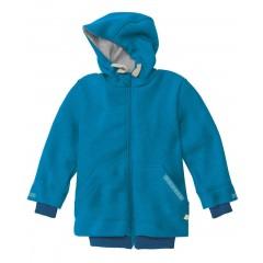 DISANA - helårsjakke i uld - blå - fåes helt op til str. 152