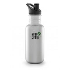 Klean Kanteen - 532 ml. drikkedunk - børstet stål - sportscap