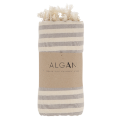 Algan - Kavun badehåndklæde - 85x180 cm. - grå
