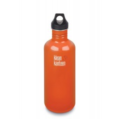 Klean Kanteen - 1182 ml. - Flame Orange - skruelåg