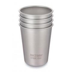 Klean Kanteen - 4 kopper i stål - 296 ml.