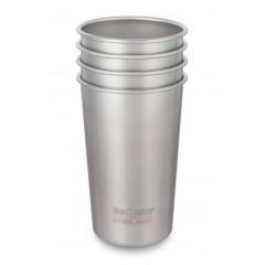 Klean Kanteen - 4 kopper i stål - 473 ml.