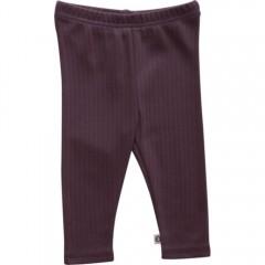 Müsli - leggings i rib - COSY - støvet lilla