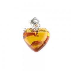 rav vedhæng - hjerte - cognac