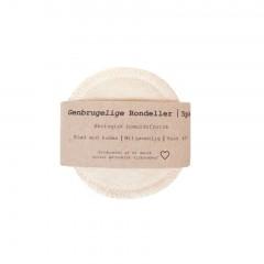 Pargaard - genbrugelige øko-bomuldsrondeller - 5 stk. - natur