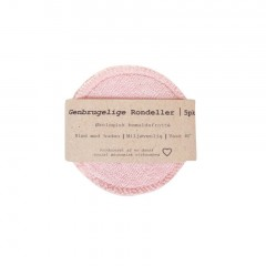 Pargaard - genbrugelige øko-bomuldsrondeller - 5 stk. - rosa