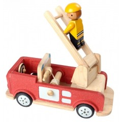 Plan Toys - brandbil i træ
