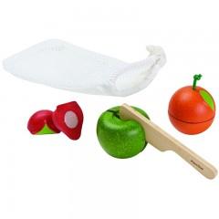 Plan Toys - legemad i træ - frugtsæt