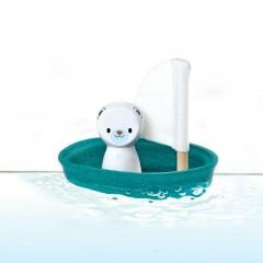 Plan Toys - isbjørn sejlbåd