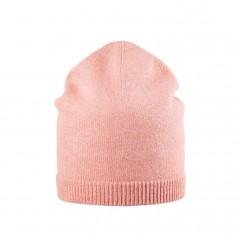 Pure Pure - beanie til voksne - merinould & kashmir - duset rosa