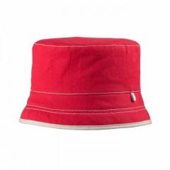 Pure Pure - solhat med faktor 80 - rød med sand stikning