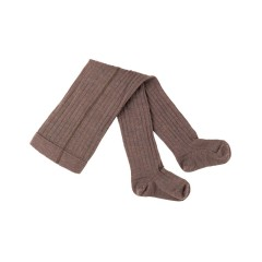 Pure Pure - strømpebukser - 80 % uld & bomuld - GOTS - hazelnut